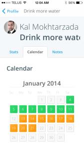 Lift app calendar