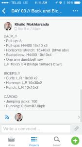 Asana - workout - back and biceps